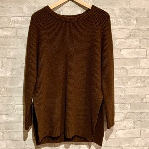Forever 21 long sleeve knit with side slits